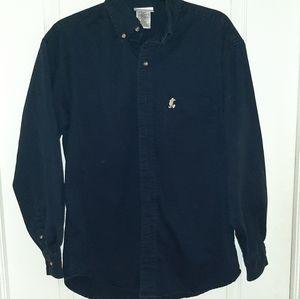 Disney World Adult Button up Shirt - Dark Blue